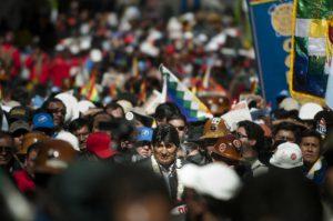 Evo Morales on May 1, 2014