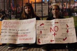 A Ni Una Menos protest rally