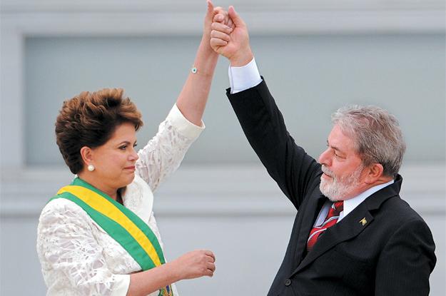 Dilma Rousseff and Luiz Inácio Lula da Silva
