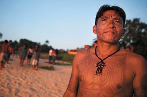 A Munduruku tribal leader. Photo: Maria Tama/Getty